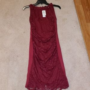 Velvet new red maternity holiday dress w tags